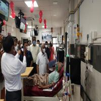 Inaugration of Dialysis  center at unjha on28thaug